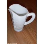 Westmoreland Milk Glass Paneled Raised Grape Footed White Pitcher 8 1/4""
